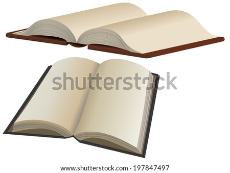 Vector format of two opened books - stock vector