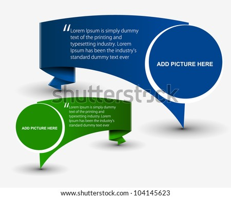 Vector formation Banner Design - stock vector