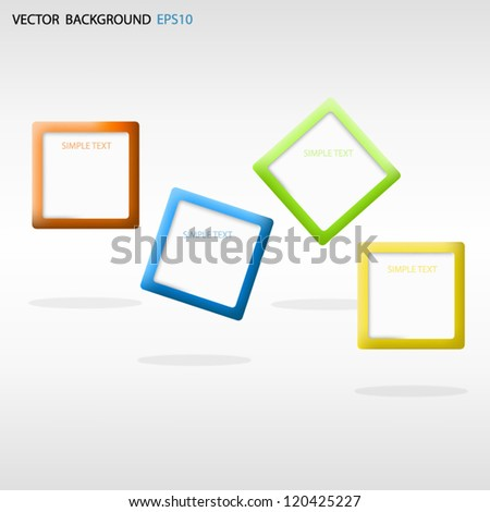 Vector frame background box for text and message for design - stock vector