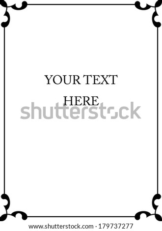 Vector frame border - stock vector