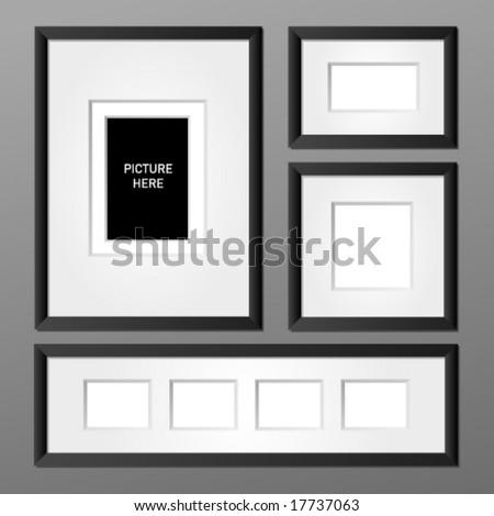 Vector frame collection 1. Editable - stock vector
