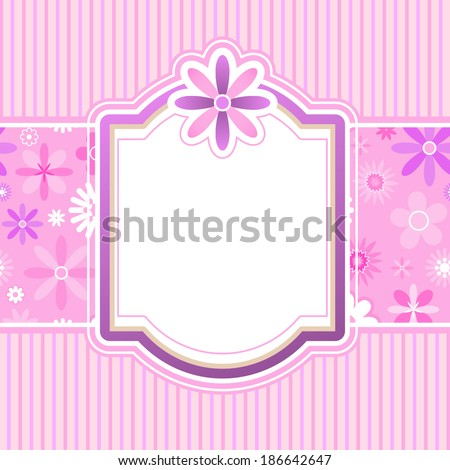 Vector frame design for invitation, greeting or announcement - stock vector