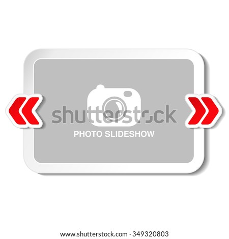 Vector frame for website slideshow, presentation or series of projected images, photographic slides or online photo album layout - stock vector
