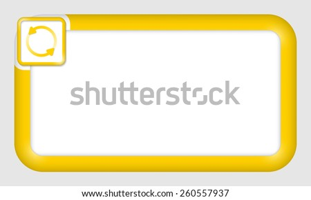 vector frame for your text and arrows - stock vector