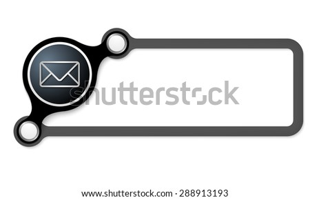 Vector frame for your text and envelope - stock vector