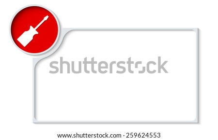vector frame for your text and screwdriver - stock vector