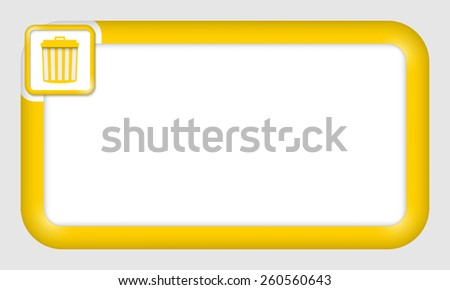 vector frame for your text and trashcan - stock vector