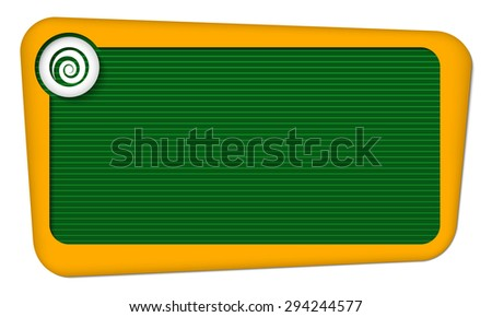 Vector frame for your text with lines and spiral - stock vector