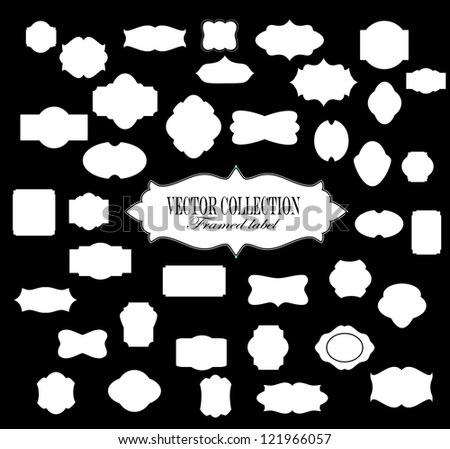 vector frame label - stock vector