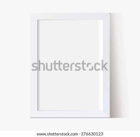 vector frame multifunction empty with shadow - stock vector