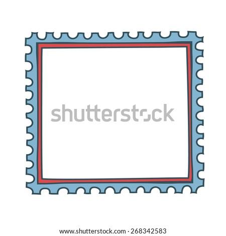 Vector  frame on isolation white background - stock vector