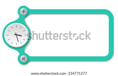 vector frame with screws and watches - stock vector