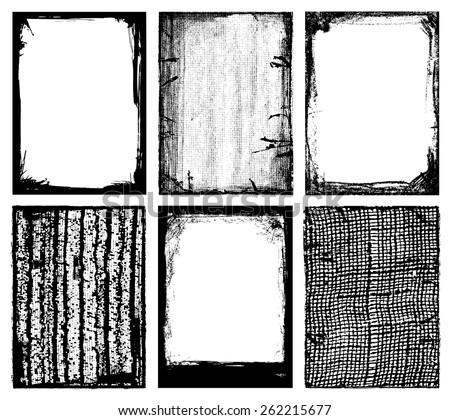 Vector Frames & Textures - stock vector