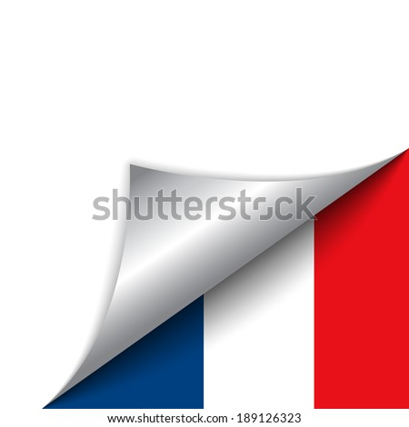 Vector - France Country Flag Turning Page - stock vector