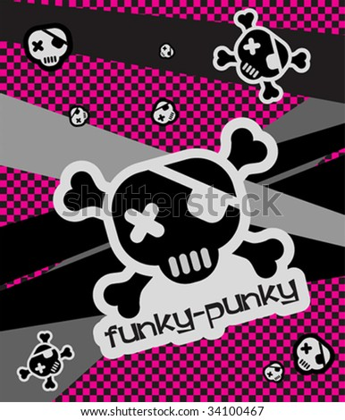 Vector Funky-Punky Illustration - stock vector