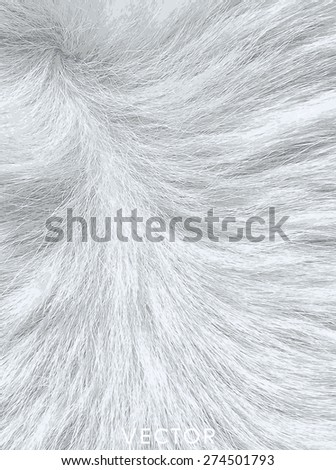 Vector - fur pale background. - stock vector
