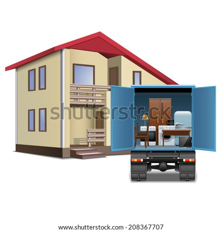 Vector Furniture Delivery - stock vector