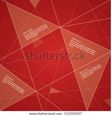 Vector futuristic template. Colorful background with place for your content. - stock vector