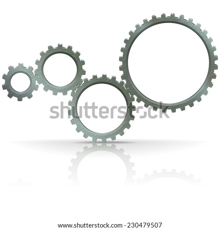 Vector Gears - stock vector