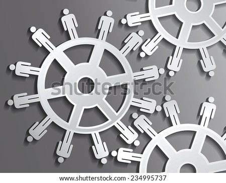 vector gears and human - stock vector