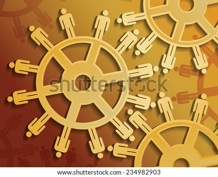 Vector gears and work concept - stock vector