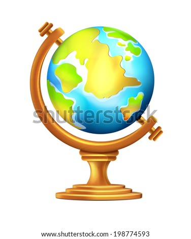 Vector Geographical Globe - stock vector