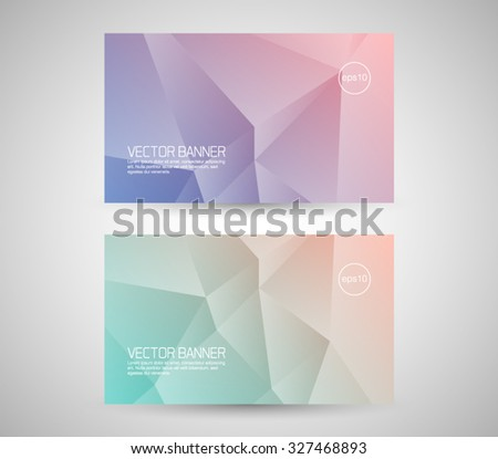 Vector geometric banner, business card. Triangular style design background, clean and modern  - stock vector