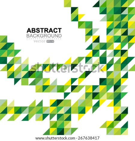 Vector geometric color shapes, abstract background, flyer or brochure template. - stock vector
