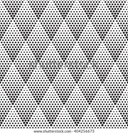 Vector geometric halftone seamless pattern. Retro pointillism vector seamless background. Vector old school design. Vector dotted seamless texture. Vector continuous abstract retro pattern - stock vector