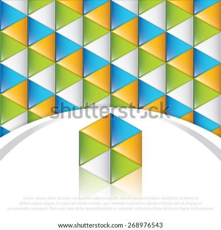 Vector geometric overlapping square elements business background - stock vector