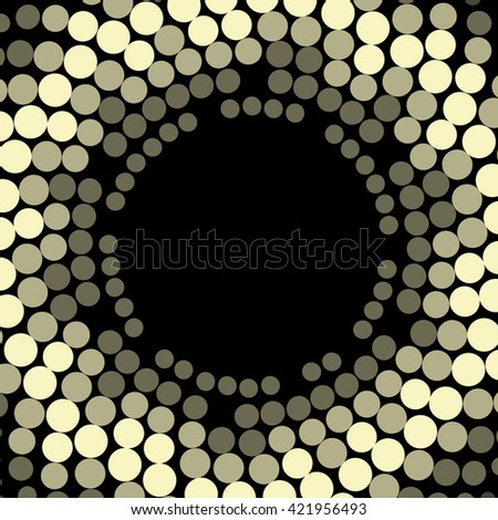Vector geometric pattern. Modern texture wreath in golden color. Frame of simple dotted design. Abstract background on the book cover, brochure, flyer or website.  - stock vector