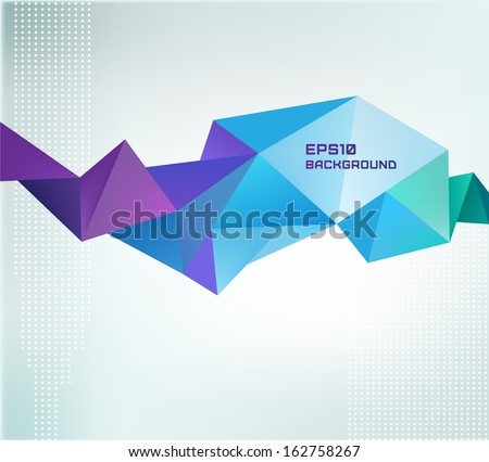 vector geometric shape, abstract colorful futuristic background - stock vector