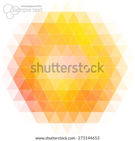 Vector geometric shapes. Colorful mosaic background. - stock vector