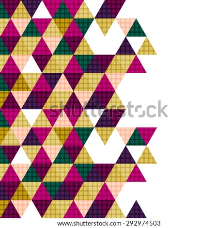 vector geometry triangle design, abstract polygon background - stock vector