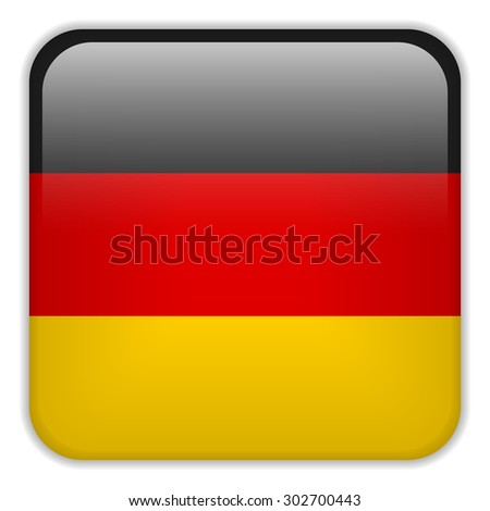 Vector - Germany Flag Smartphone Application Square Buttons - stock vector