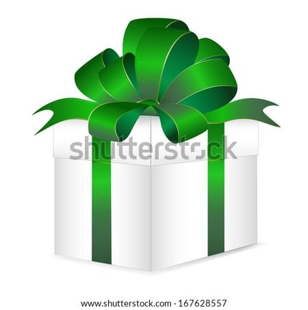 Vector gift box - stock vector