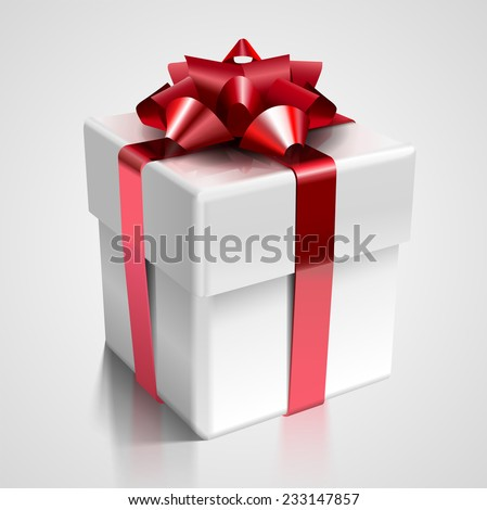 Vector gift box - design element for various holiday designs: Christmas, Valentine's day, New Year Celebrations and Birthday  - stock vector