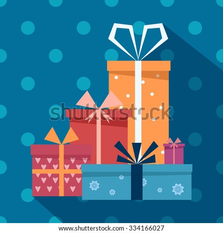 Vector gift boxes icons  - stock vector