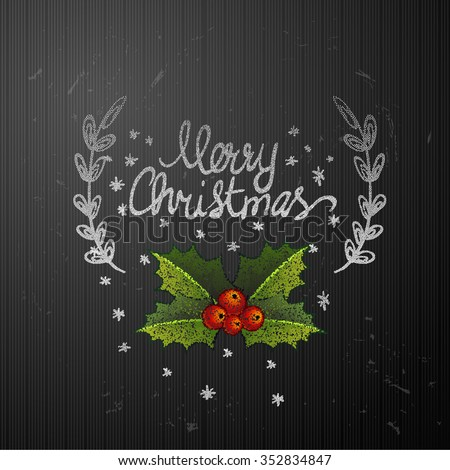 Vector gift Christmas Greeting Card. Merry Christmas - stock vector