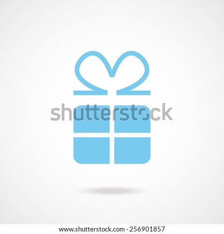 Vector gift icon. Creative graphic design logo element illustration. Isolated on gradient white background. - stock vector