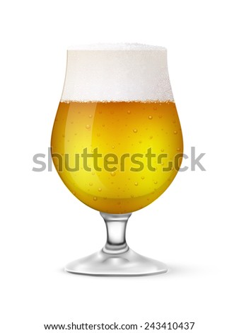 vector glass of beer - stock vector