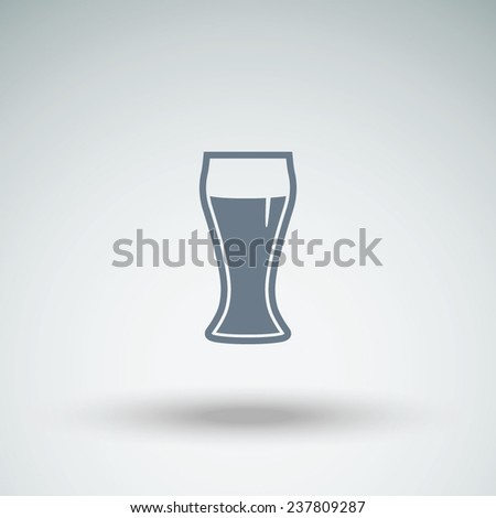 Vector glass of beer icon - stock vector