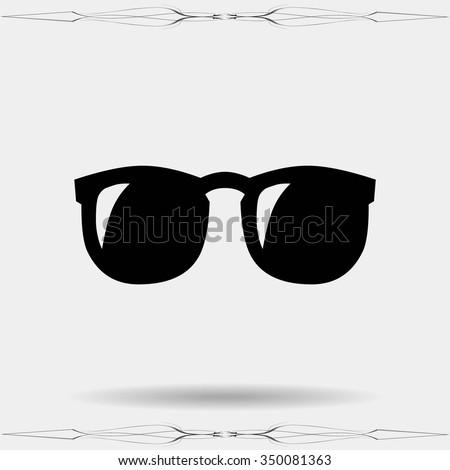 Vector Glasses Icon Symbol - stock vector