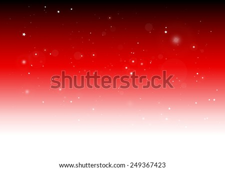 Vector glittering sparkles shiny red background design template - Vector sparks and stars on red background illustration - stock vector