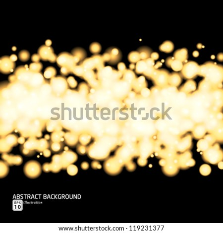 Vector glittery gold background. - stock vector
