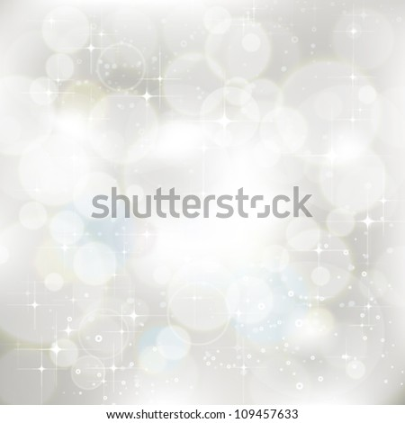 Vector glittery silver abstract Christmas background. Jpeg version also available in gallery. - stock vector