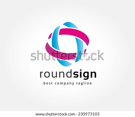 Vector globe abstract logo template. Circle round shape and earth symbol, geometric icon, technology logo, web net logo icon. Globe vector. Geometric logo. Company logo. Vector logo icon.  - stock vector