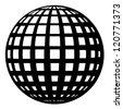 vector globe black symbol - stock vector