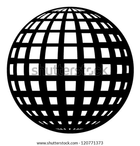 vector globe black symbol - stock vector