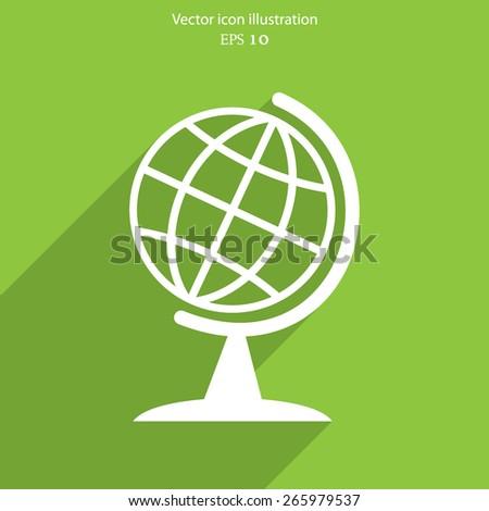 Vector globe icon illustration background. - stock vector